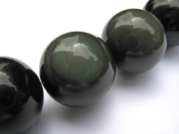 AA grade LOT véritable arc-en-ciel obsidienne boule ronde perles de bijoux 14mm --- 5methods16