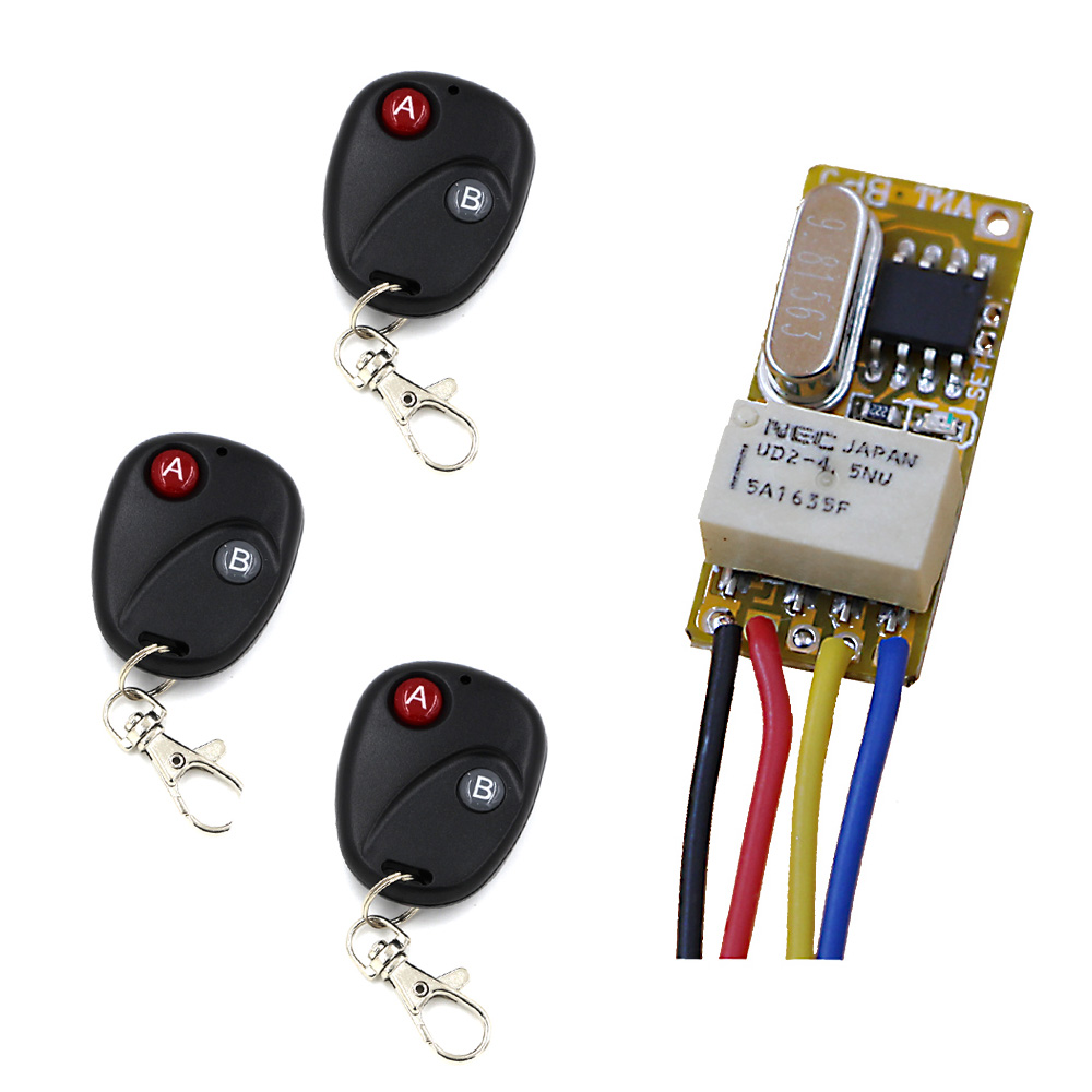 DC3.7V 5V 6V 7V 9V 12V Mini Relay Wireless Switch Remote Control Power LED Lamp Controller Micro Receiver Transmitter System dc3v 3 7v 5v 6v 7v 9v 12v mini relay wireless switch remote control power led lamp controller micro receiver transmitter system