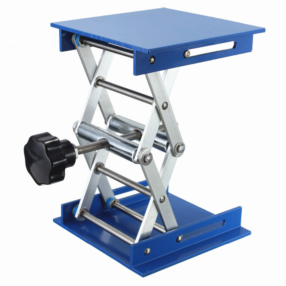 """Image 4 - 4x4"""" Lab Lift Lifting Platforms Stand Rack Scissor Lab Lifting Aluminum 4cm 15cm-in Furniture Accessories from Furniture"""