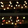 Romántica 20 bombillas con 3 M cable blanco guirnalda De Navidad luces de la secuencia de hadas de la decoración para el hogar/fiesta de Navidad de cuerda luces