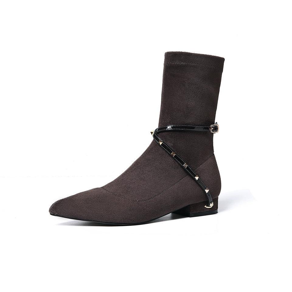 Cuir Talons mo Boot Femme Femmes Cheville Bas Carrés Noir Chaussures 33 Kase Pu Dames Moto Automne En Bottes Eshtonshero Noir forme Taille 40 Plate xwzYqATBT