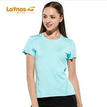 Freies Verschiffen-NEUES Laynos Hauptquartier-Sommer-Frauen-runder Kragen Breathable Liebhaber Kurzhülse Gymnastik-Sport-schnelles dünnes trockenes T-Shirt182A536A