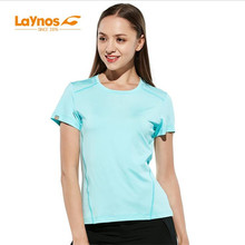 Бесплатная доставка-NEW Laynos HQ Summer Women's Round Collar Breathable lovers Short-sleeve Gym Sport Quick Thin dry T-shirt182A536A