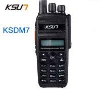 KSUN Digital Walkie Talkie 400 470MHz KSDM7 Handheld Radio DMR Transmitter Digital Two Way Radio Walkie Talkie
