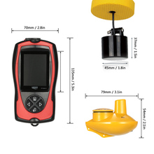 LUCKY FF1108-1C Wired&Wireless Fish Finder Waterproof Fishing sonor 100m Fish Detector Sea English/Russian Menu Fish Gear Pesca
