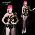 #2011 Производительность танцевальные костюмы сценические костюмы для певцов Хип-хоп танца костюм Сексуальная Боди Roupas feminina