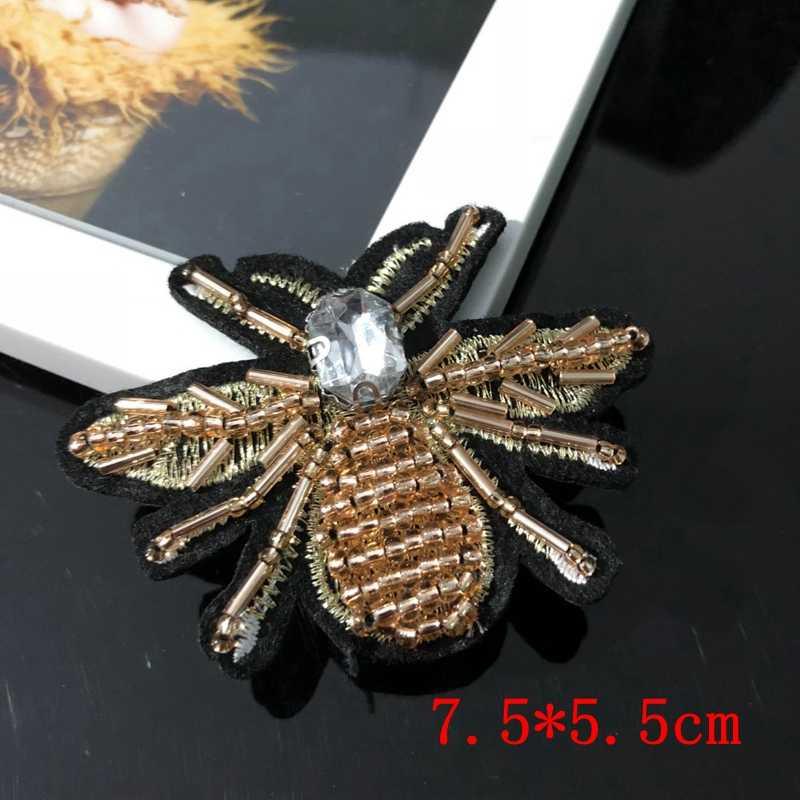 פאייטים חרוז מסמר ידני תיקון מקל חרקים בגדי רקמת applique תיקון תיקוני נייל קישוט bee חרוזים תפור ביד