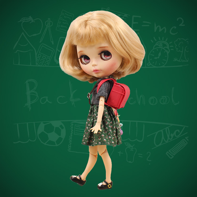 Neo Blythe Doll School Bag Campus Red Satchel Books & Stationery