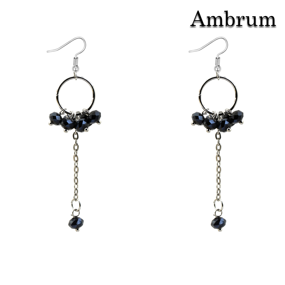 Ambrum Colored faceted Crystal Beaded Earrings,Women
