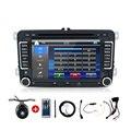 2 Дин Авто Dvd-плеер Автомобиля Камера Для VW Volkswagen Tiguan GPS HD Радио Стерео FM USB/SD BT Головное устройство Бесплатную Карту