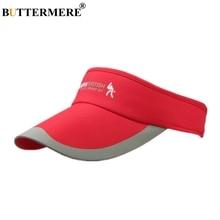 цена на BUTTERMERE Visor Sun Hat Women Summer Long Brim Red Baseball Cap Men Print British Adjustable Sports Brand 2019 Casual Golf Hat