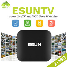ESUNTV 1 Year FREE IPTV included Android TV Box 2 16G Europe IPTV Spain Portugal tv