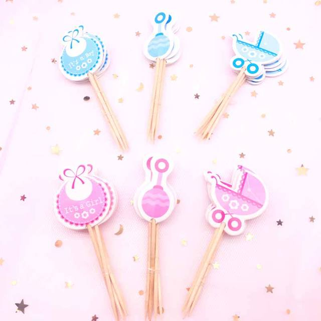 Baby Shower Cake Toppers Set 18 Pcs