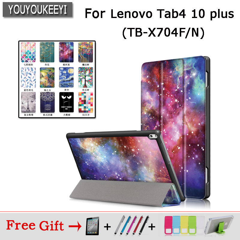 Painted Case For Lenovo TAB 4 10 Plus 10.1 TB-X704N X704F Tablet Protective Smart cover Tab4 10 plus TB-X704L PU Leather Covers pu leather cover stand case for lenovo tab 4 10 plus tb x704f tb x704n 10 1 tablet protective tab4 10 plus transformers cover