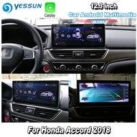 YESSUN For Honda For Accord 2018 Car Android Carplay GPS Navi maps Navigation Player Radio Stereo Multimedia HD Screen no CD DVD