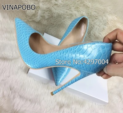 So Kate Leather Bridesmaid Pointed Toe Women Pumps Shoes Party Snake Shape High heels 12cm 8cm