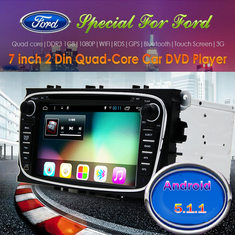 2 Din Android 5.1 Quad Core HD 1024*600 Car DVD Player for Ford Focus Mondeo S-Max Cmax Galaxy car Audio Radio Stereo Head Unit  sc 1 st  AliExpress.com & Online Get Cheap Ford Car Radio Cmax -Aliexpress.com | Alibaba Group markmcfarlin.com