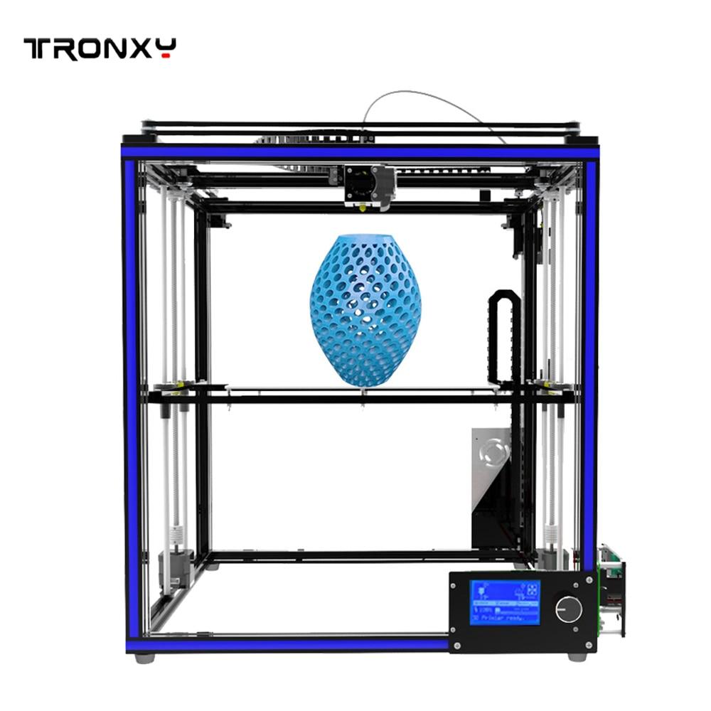 2017 NEW TRONXY 3D Printer X5S Stable printing High precision Aluminum profiles DIY 3d printer flsun 3d printer big pulley kossel 3d printer with one roll filament sd card fast shipping