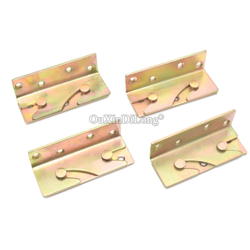 HOT 12PCS Heavy Duty Furniture Hang Buckles Bed Rail Insert Hook Plate Brackets Hidden Bed Buckle Latches Connecting Fittings