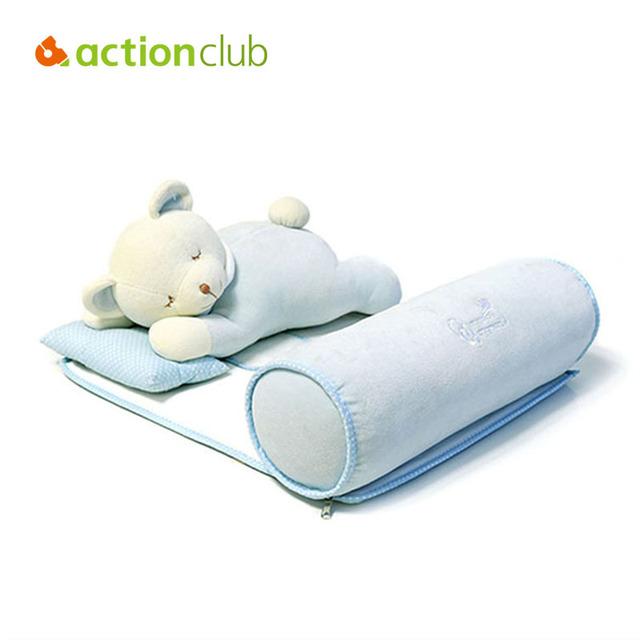 0-3 Anos Bebê Recém-nascido Travesseiro Multifuncional Travesseiro Protecção Pescoço Conjunto Fundamento Do Bebê Dormir Shaping Travesseiro Bebê Dos Desenhos Animados Brinquedos HK586
