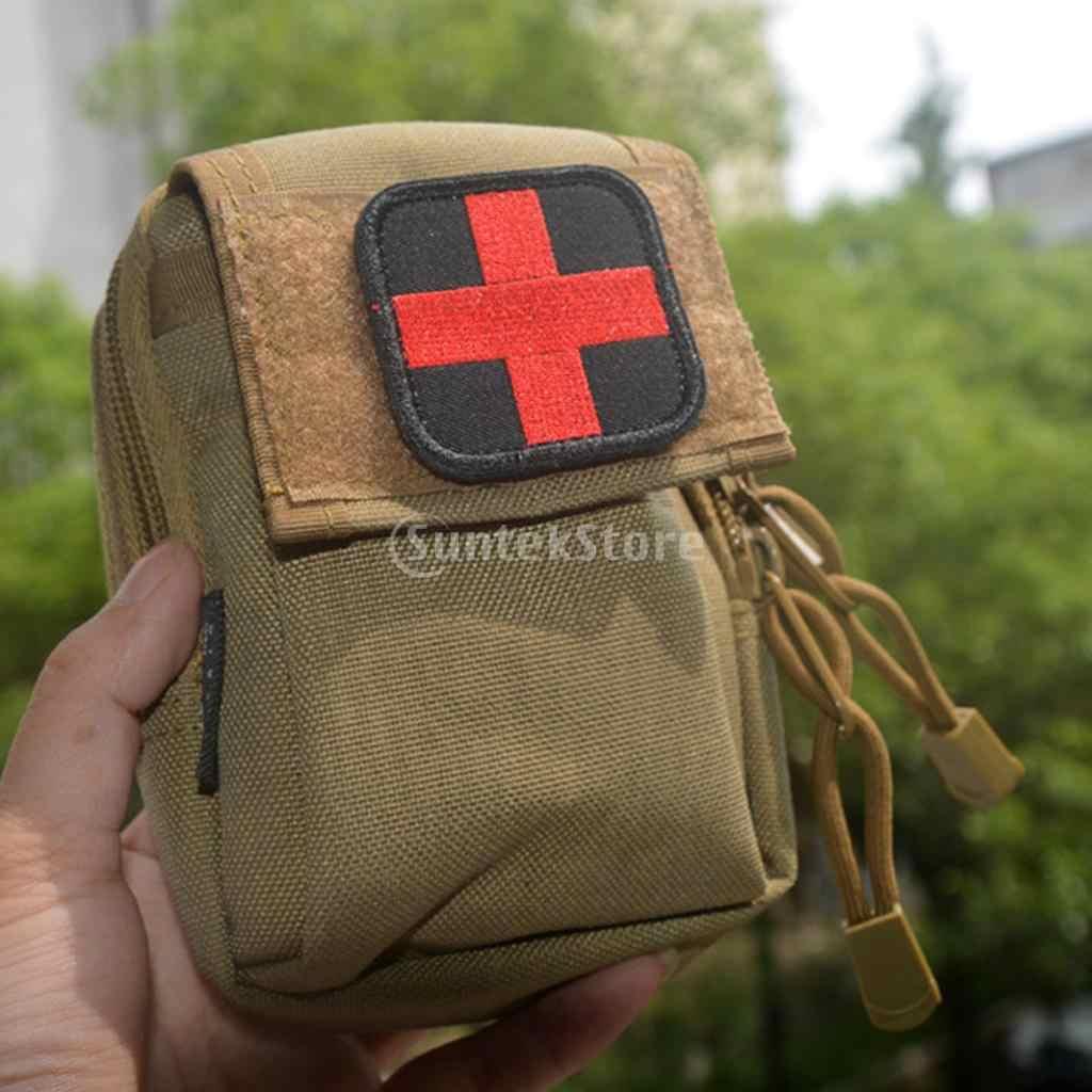 50x50mm Hook & Loop Ricamato Tattico Croce Rossa Medic Patch per Zaino First Aid Kit Pouch