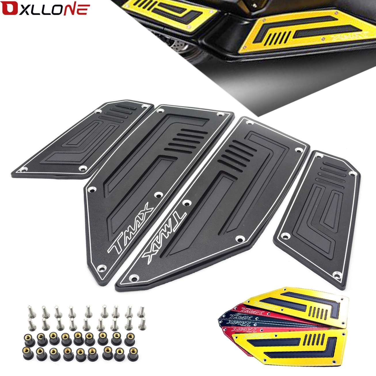 Motorcycle Foot Plate Motorbike Footboard Steps Foot Plate For YAMAHA TMAX530 <font><b>T</b></font>-MAX530 <font><b>T</b></font> <font><b>MAX</b></font> <font><b>530</b></font> 2012 2013 2014 <font><b>2015</b></font> 2016 image