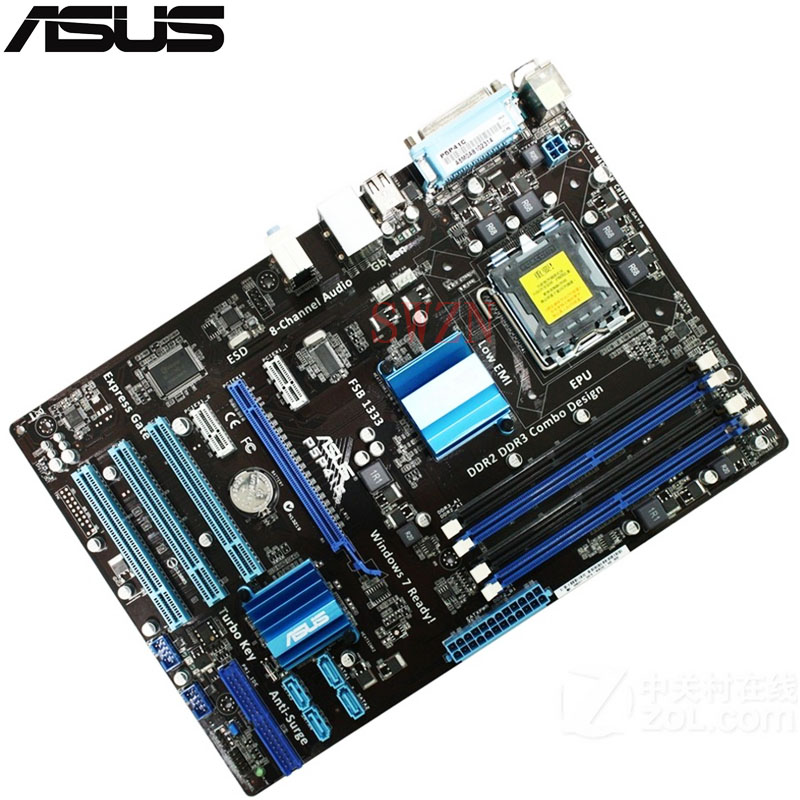 original Used Desktop motherboard For ASUS P5P41C P41 Support LGA 775 Maximum DDR2/DDR3 8GB 4*SATAII ATX high quality desktop motherboard for 580