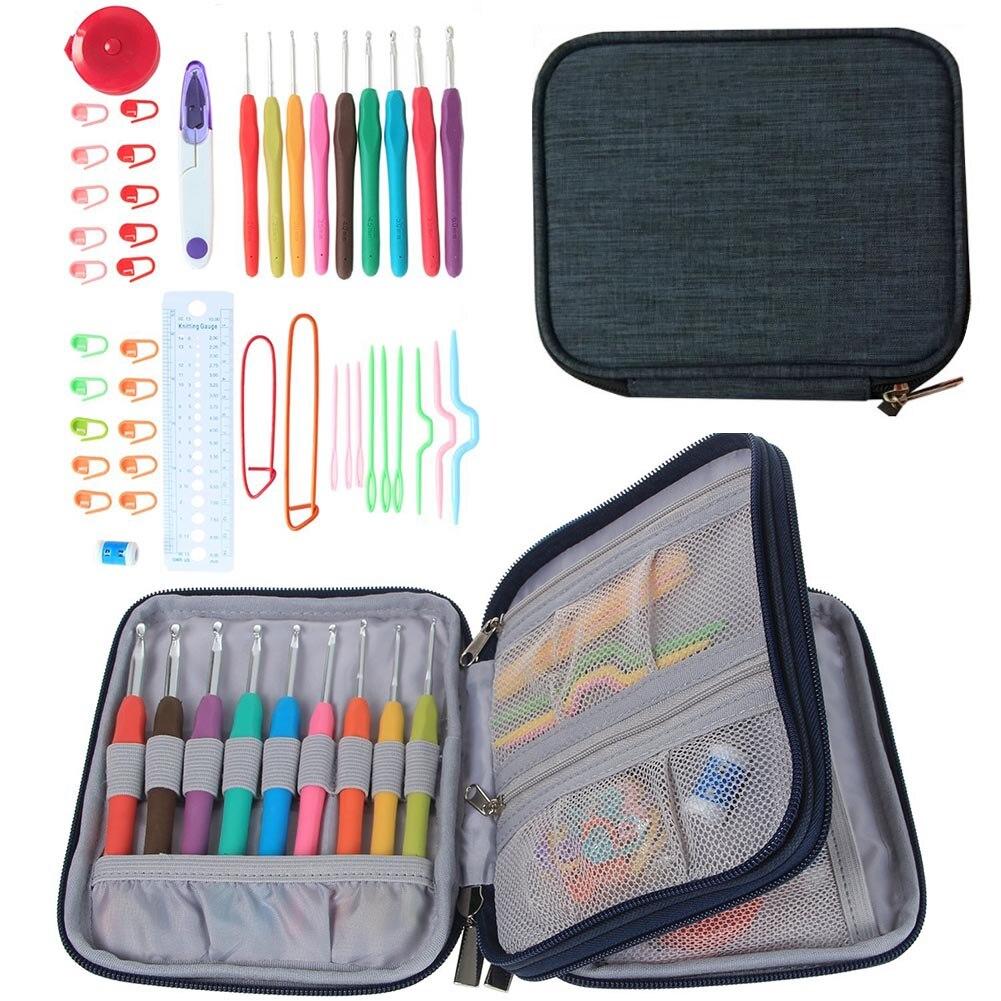 Knitting Organizer Case : Pcs set crochet hooks stitches knitting needle kit