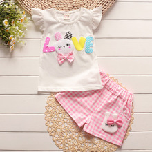 2018 baby girls clothing sets infant clothes toddler children cotton cartoon 2pcs cartoon rabbit clothes sets girls summer set cheap Active Regular BibiCola Fits larger than usual Please check this store s sizing info O-Neck 540054555 Pullover Coat Worsted