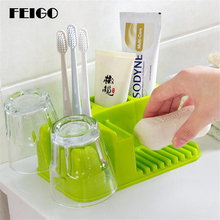 FEIGO Toothbrush Cup Shelf Toothpaste Dispenser Squeezer New Tooth Mug Wash Gargle Suit Wash Cup Toothbrush Holder Storage F136