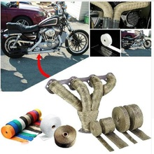 5M and 10M Motorcycles Exhaust Front Pipe Anti-hot Wrap Heat Manifold Insulation Cloth Roll With 3 Colors option hot sale 50cm 10m floor heating film 5 sq meters with clamps insulation daub and black insulation tap