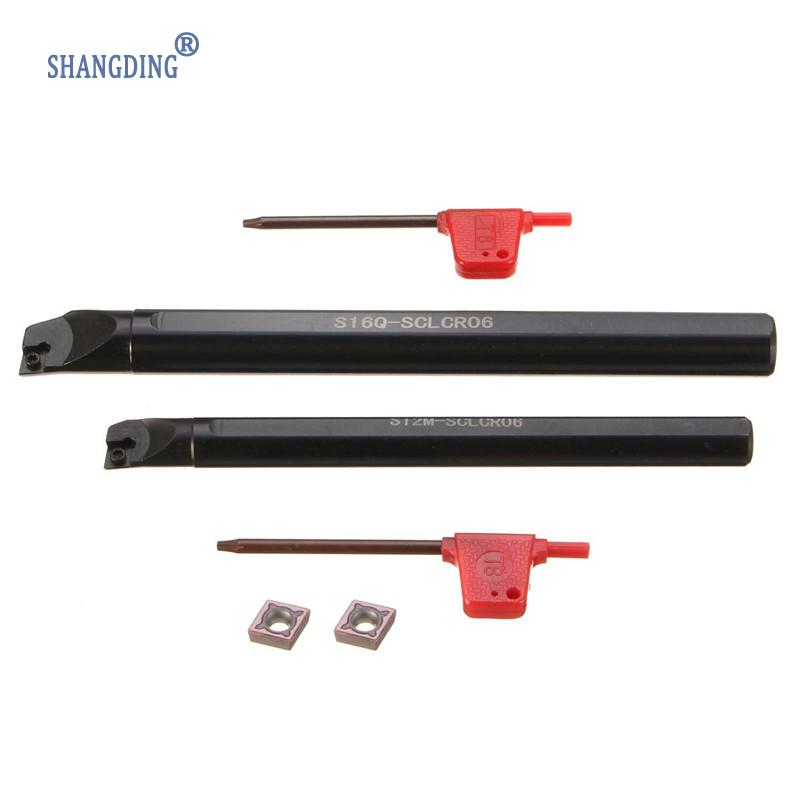 Newest 2Pcs SCLCR 6x100mm And 12x150mm Boring Bar Holder Turning Tool With CCMT0602 95 Degree 2 Sizes Wholesale Price