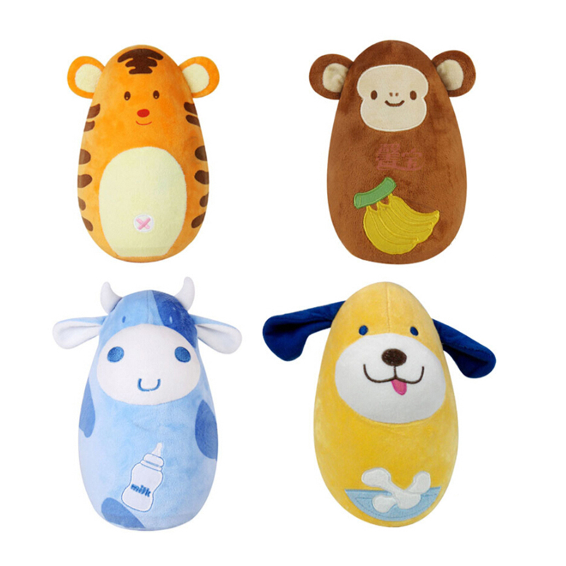 Cartoon Animal Tumbler Toys For Baby Creative Stuffed Plush Animals Fun Soft Wobbling Popular Toy Birthday Gifts
