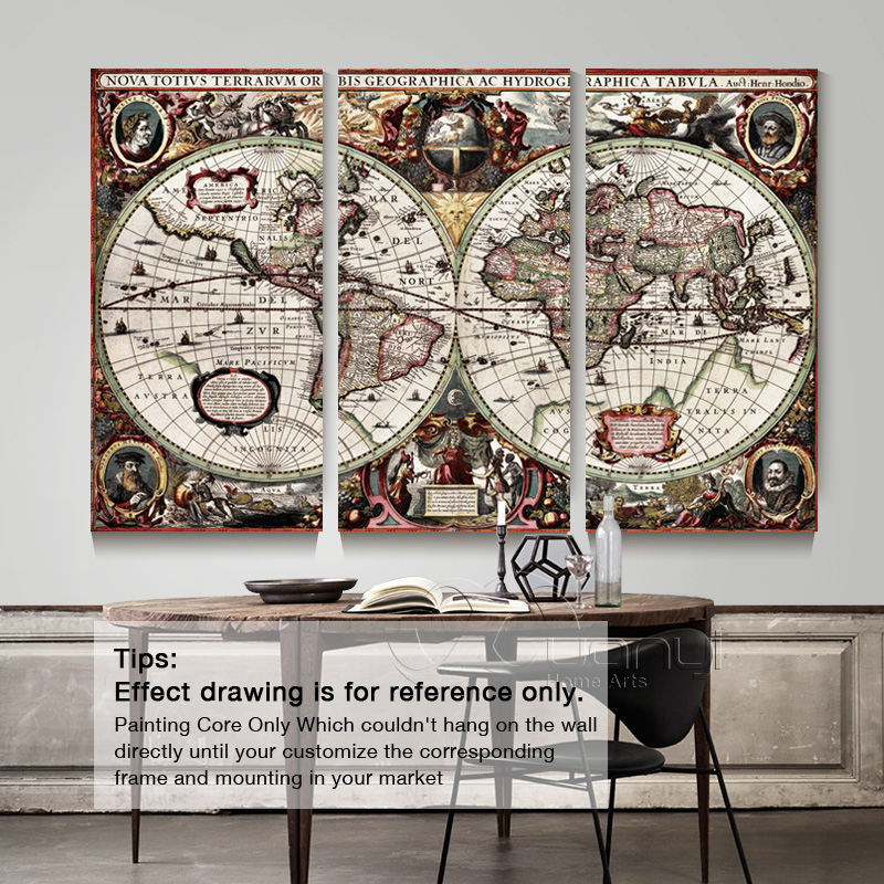 3 piece abstract world map canvas painting for kids rooms wall art 3 piece abstract world map canvas painting for kids rooms wall art prints picture world map antique painting home decor unframed in painting calligraphy gumiabroncs Gallery