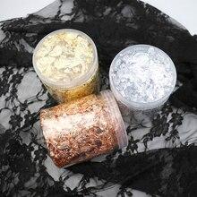Imitación de oro/plata/lámina de cobre arte hojas de papel a granel hojas de papel para dorado DIY decoración de Arte de escamas de uñas