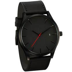 Relogio Masculino Мода 2019 г. Военная Униформа спортивные наручные часы для мужчин кварцевые часы с кожаным ремешком полный Календари Часы