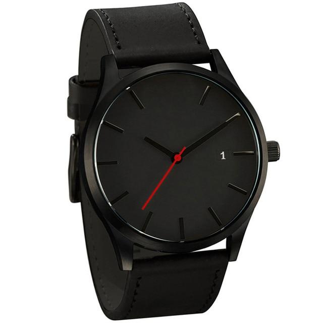 Relogio Masculino 2019 Fashion Military Sport Wristwatch Men Watch Leather Quartz Men's Watch Complete Calendar Watches Clock