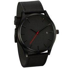 Relogio masculino 2018 Moda Esporte Militar relógio de Pulso Dos Homens Relógio de Quartzo de Couro Relógio Calendário Completo Relógios Relógio dos homens