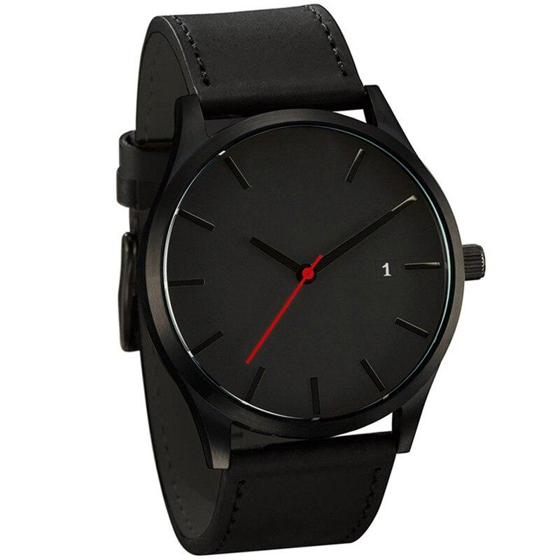 Relogio Masculino 2019 Mode Militaire montre-bracelet de sport montre homme En Cuir de Quartz Hommes Montre Calendrier Complet Montres Horloge