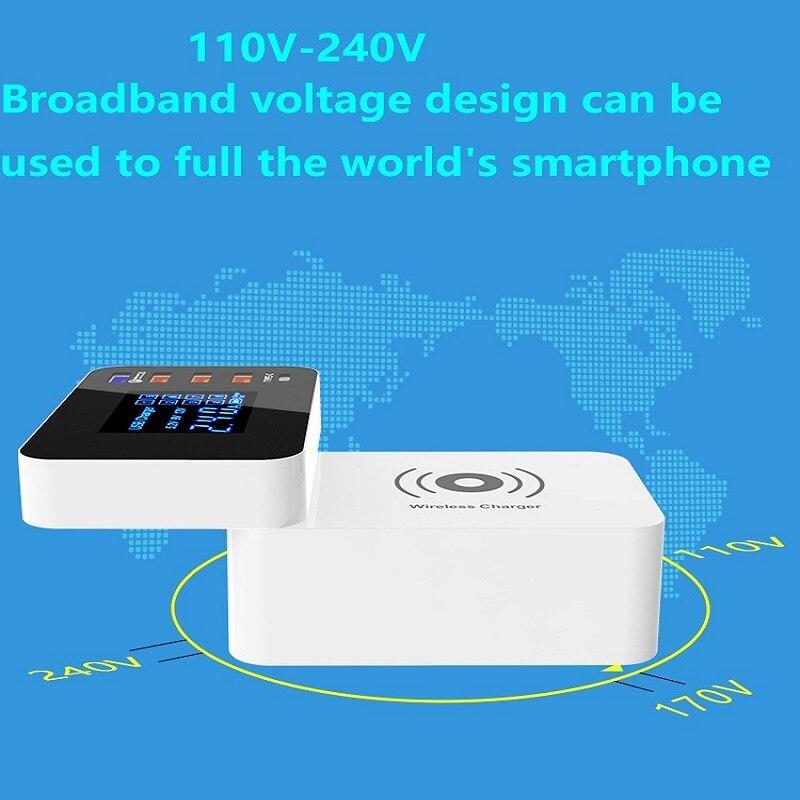Honesum 10 W chargeur sans fil chargeur rapide QC3.0 USB Charge rapide type-c pour iPhone X/XS Max XR LED affichage et diversion