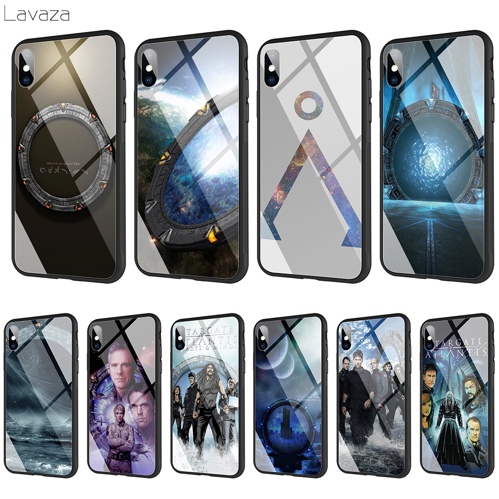 Lavaza Stargate Atlantis SGA vidrio templado TPU caso para iPhone XS MAX XR 8X8 7 6 6S Plus