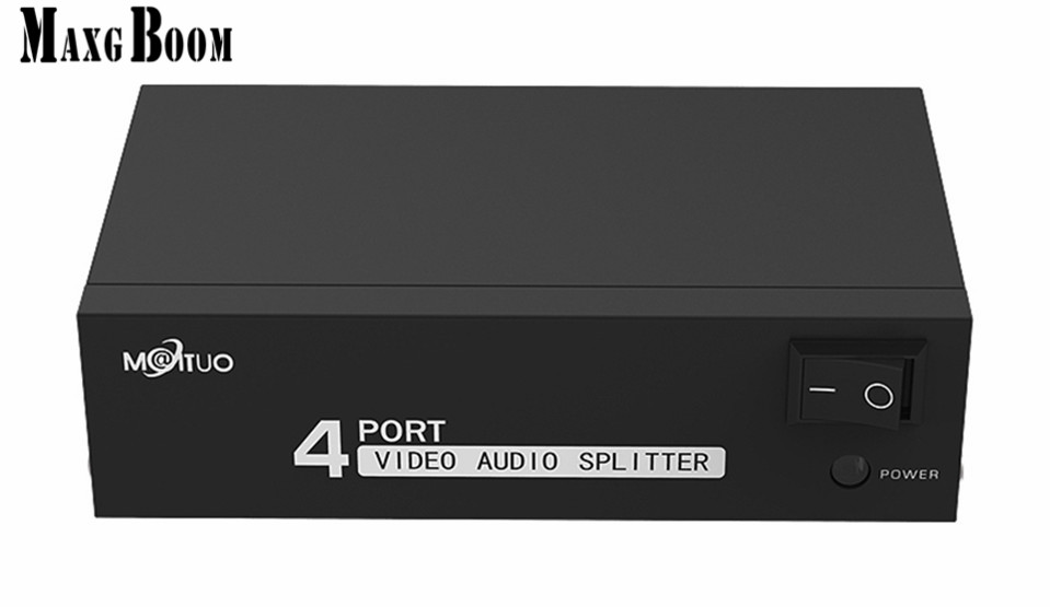 Back To Search Resultshome Cooperative Maxgboon Original 4-port Rca Audio Video Av Splitter Distributor 1 Input To 4 Output With Power Adapter Free Shipping Smoothing Circulation And Stopping Pains
