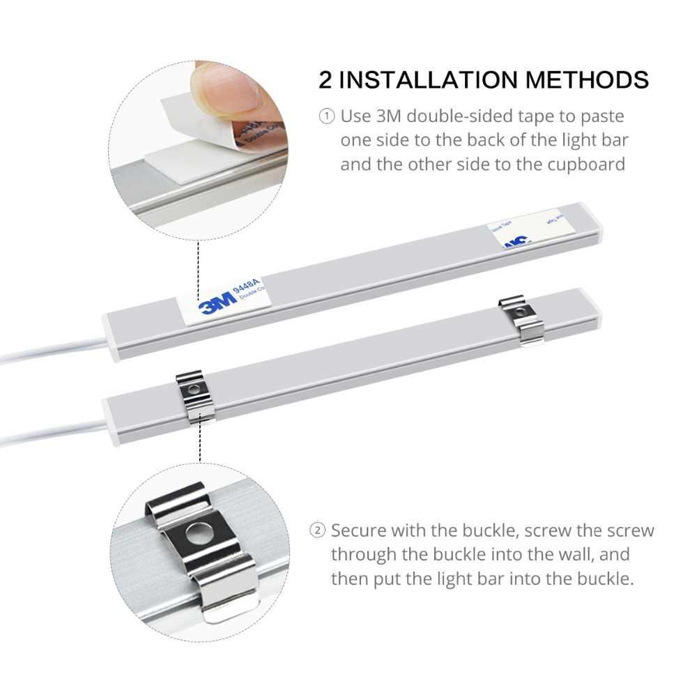 5 Вт, 6 Вт, 7 Вт, ручной сканирующий датчик, светодиодный светильник 12 В, светодиодный ламповый светильник для шкафа, ручной датчик движения, светодиодная кухонная лампа 30 см, 40 см, 50 см