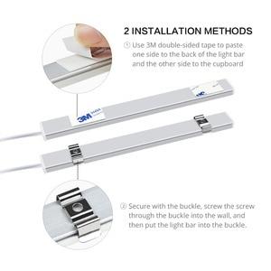 Image 3 - 5W 6W 7W Hand Scan Sweep sensor LED Bar Light 12V LED Tube Cabinet light Lamp Hand Motion Sensor LED Kitchen lamp 30cm 40cm 50cm
