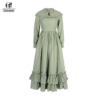 ROLECOS 2018 New Arrival Minimalist Style Solid Women Dress Cotton Medieval Renaissance Women Costume Party Dresses