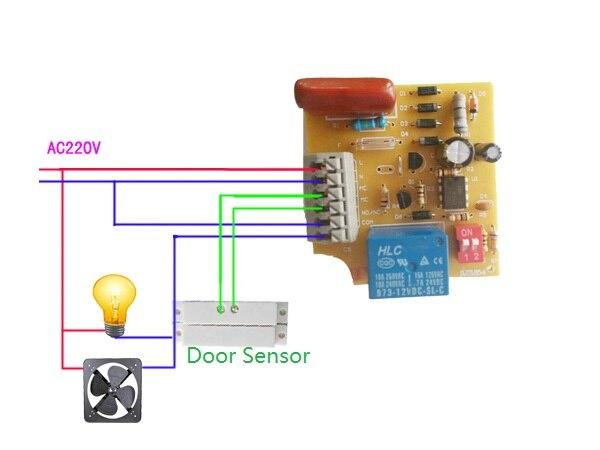 220v Sensor Switch Module Relay Output Alarm Delay Time Adjustable Controller