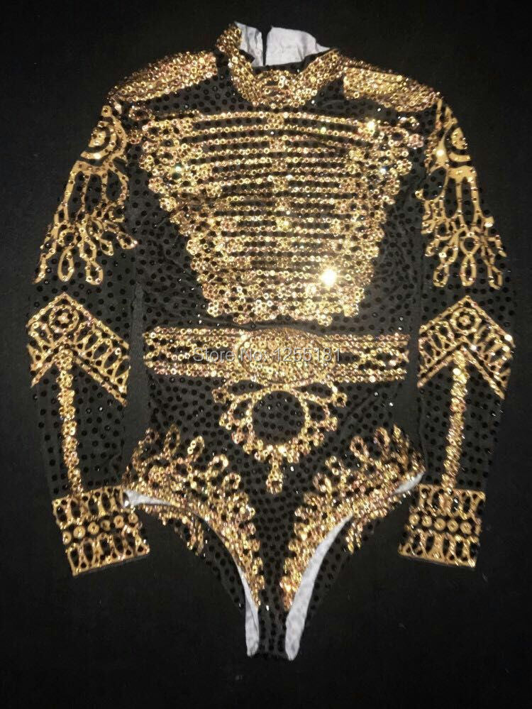Sexy 2017 beyonc Bodysuit Women s Long Sleeves Rhinestone Outfit Dance Stage Show Nightclub Costume Singer