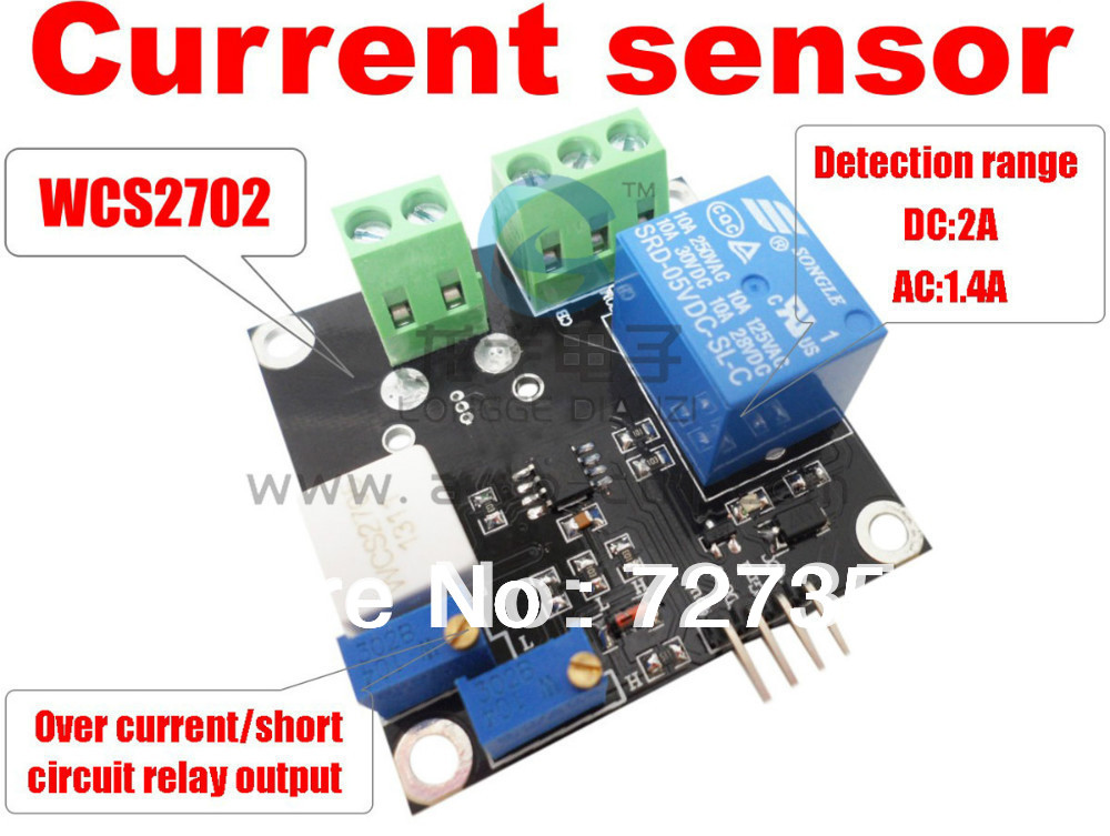 wcs2720 current detection sensor ac 20a short circuit overcurrent