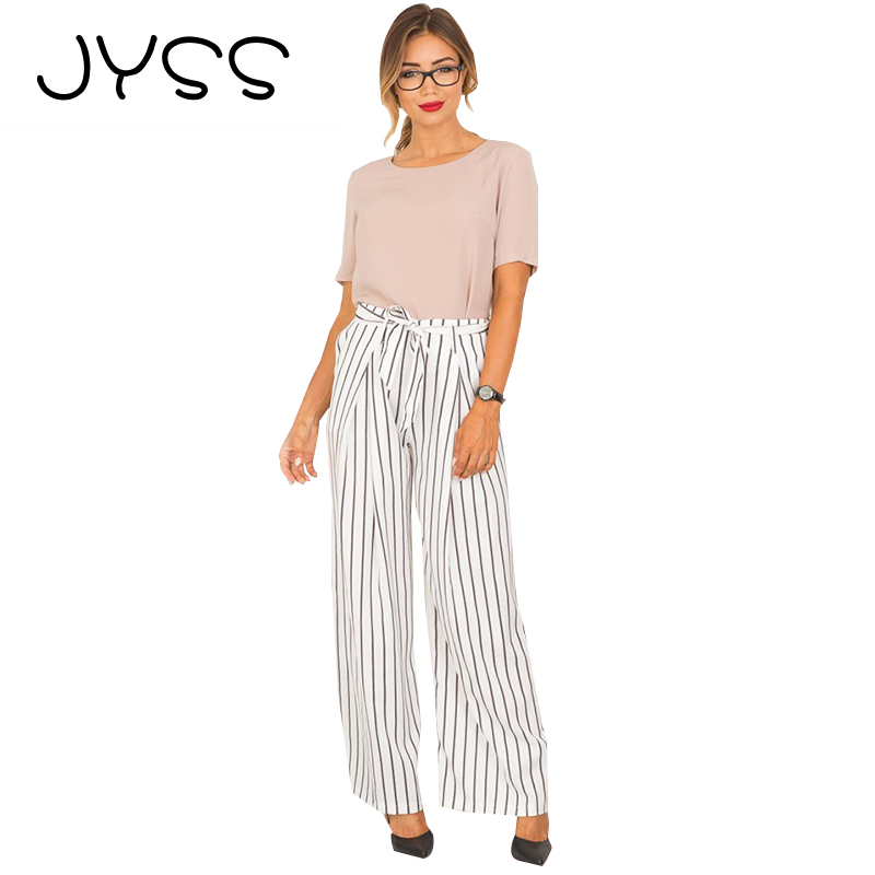 Bottoms 2019 Newest Fashion Hot Sexy Charming Wholesale Summer Pleated Chiffon Wide Leg Pants Elastic Waist Trousers Women Casual Pants Sales Of Quality Assurance