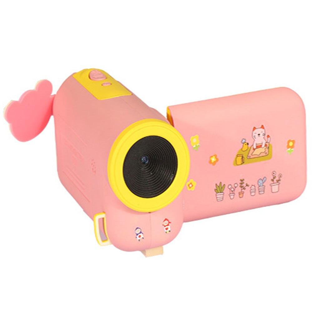 Портативный весело дети камера Cam селфи мини Детская камера для Мода Прямая HD - Цвет: pink
